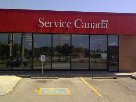 Building image of Sarnia Service Canada Centre at 529 Exmouth Street in Sarnia