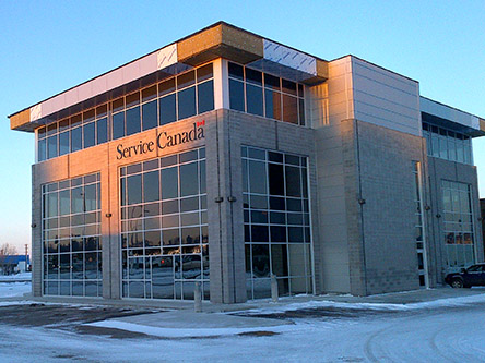 Building image of Edmonton Westlink Service Canada Centre at 16826 107th Avenue in Edmonton