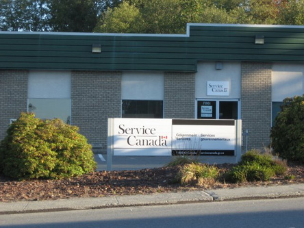 Photo de l'édifice du bureau Powell River - Centre Service Canada situé au 7061, rue Duncan à Powell River