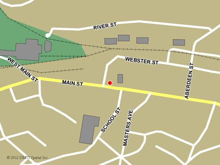 Map indicating the location of Kentville Service Canada Centre at 495 Main Street  in Kentville