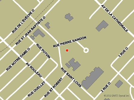 Map indicating the location of Rimouski Service Canada Centre at 287 Pierre-Saindon Street in Rimouski