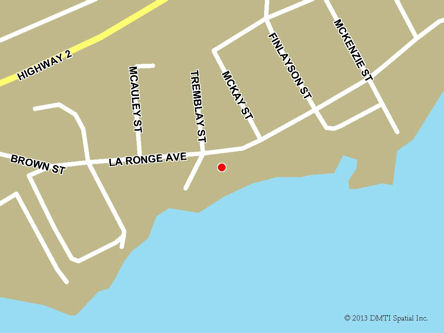 Map indicating the location of La Ronge Service Canada Centre at 503 La Ronge Avenue in La Ronge