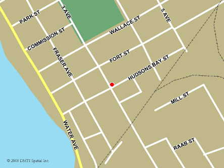 Map indicating the location of Hope Scheduled Outreach Site at Unit D, 895 3rd Avenue in Hope