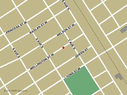 Map indicating the location of Virden Scheduled Outreach Site at 227 Wellington Street West  in Virden