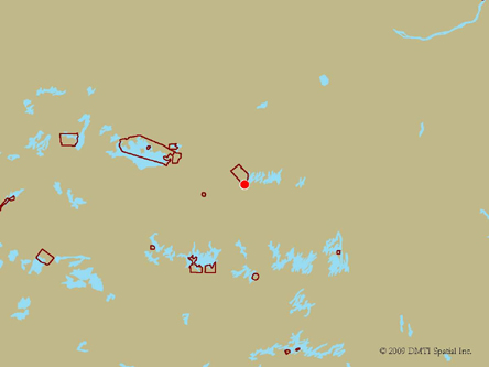 Map indicating the location of Kasabonika Lake First Nation Scheduled Outreach Site at   in Kasabonika
